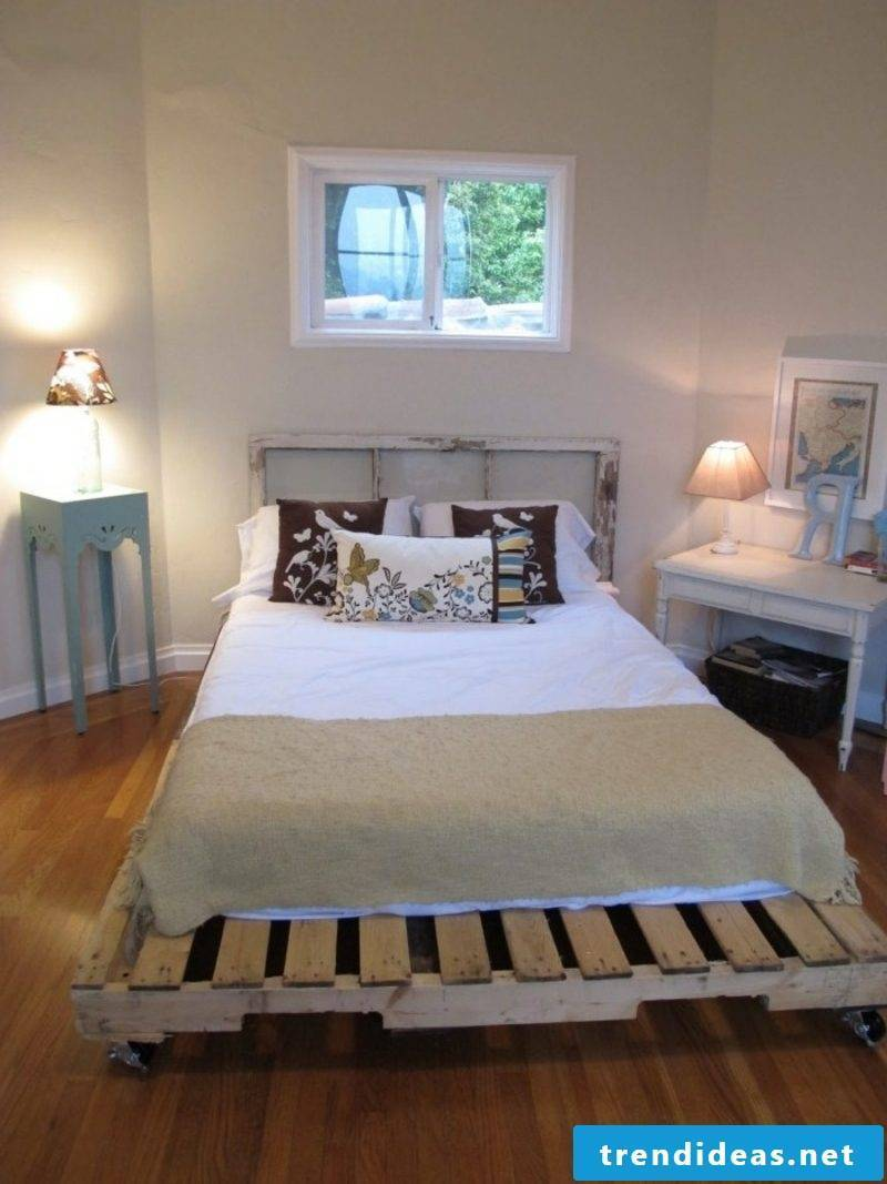 Euro pallets bed build comfortable and practical