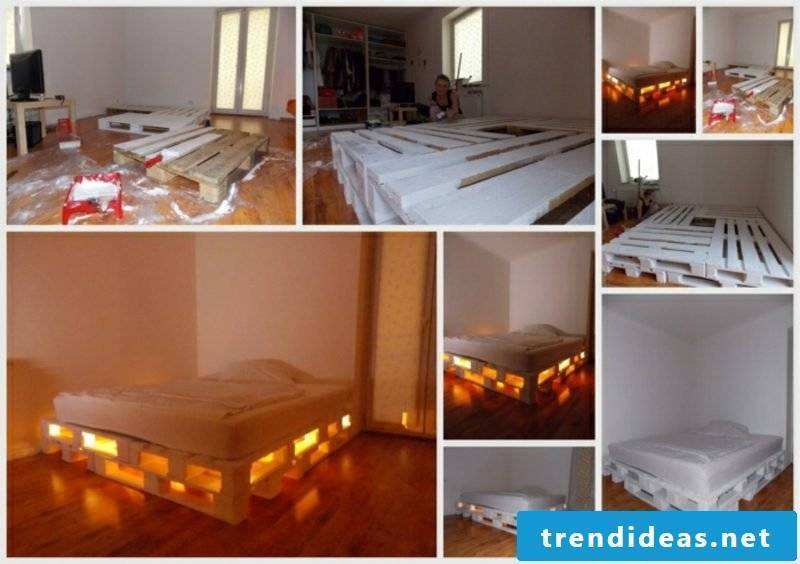 Euro pallets bed creative design ideas