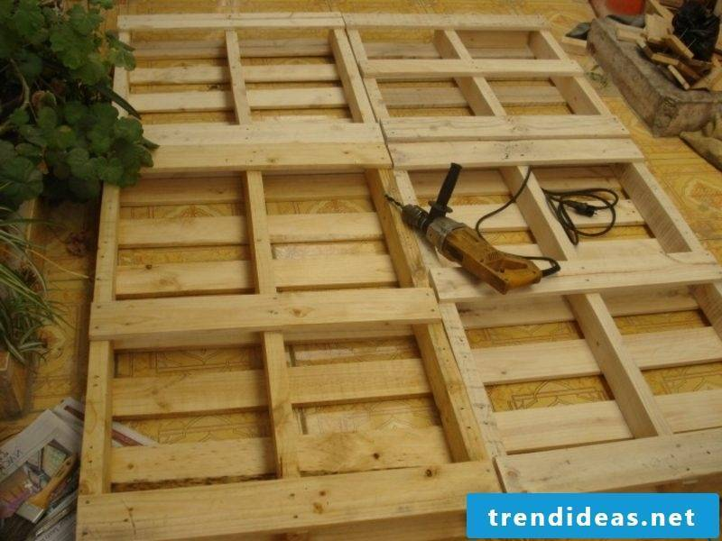 Design Europalletten bed yourself Build a bedstead