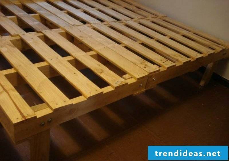 Euro pallets bed build yourself instructions in pictures