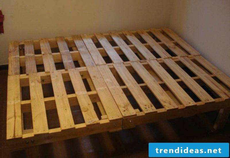 Euro pallets bed itself build simple instructions