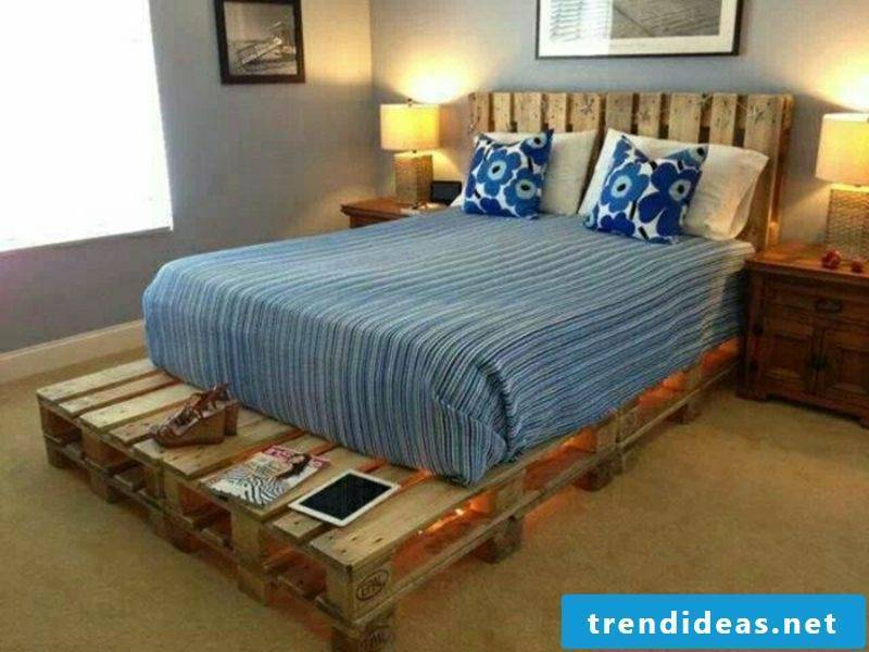 large europallets bed with headboard built