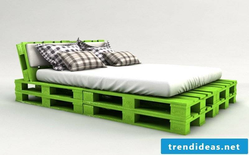Euro pallets bed itself build modern and practical