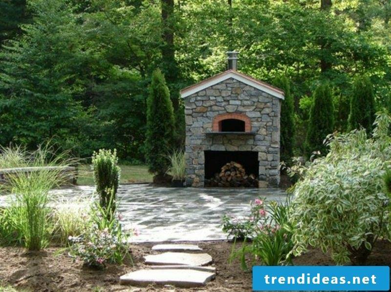 Garden design original barbecue