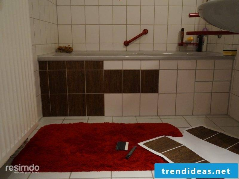 Tile bathroom over how to do it