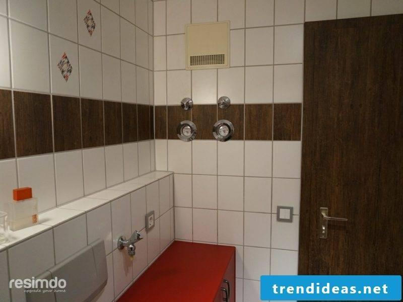 PVC tiles self-adhesive bathroom without tiles