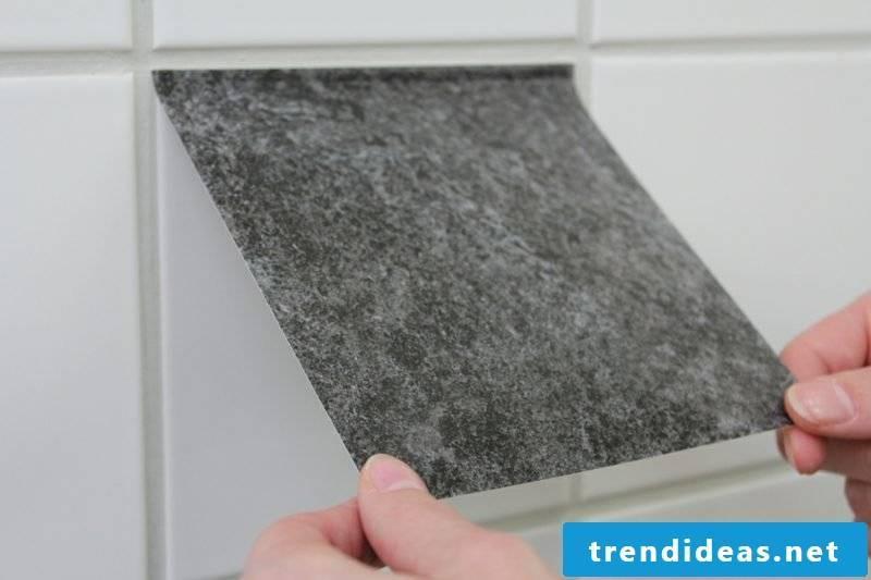 Tiling over bathroom tiles
