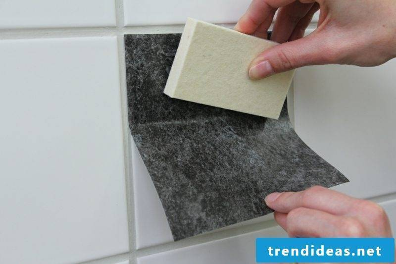 Re-apply bathroom tile over wall tiles Renew tile joints