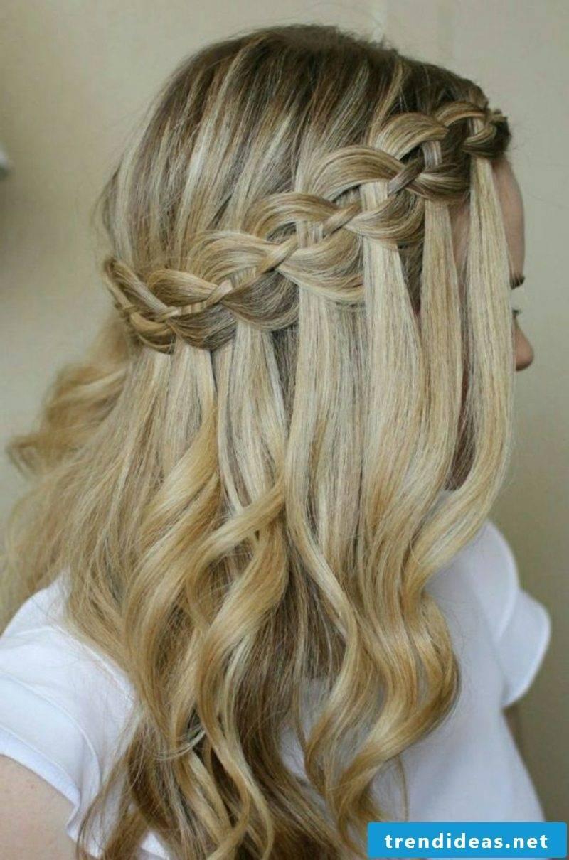 Make waterfall braid yourself
