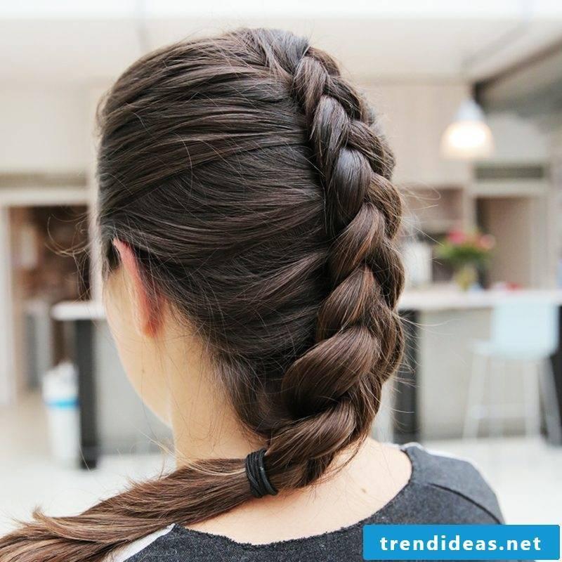 Braided hairstyles Instructions Dutch braid