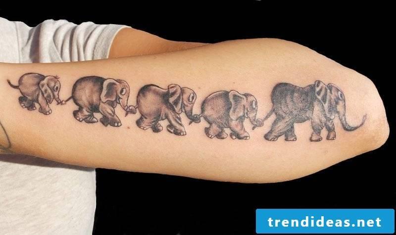 Elephant tattoo family