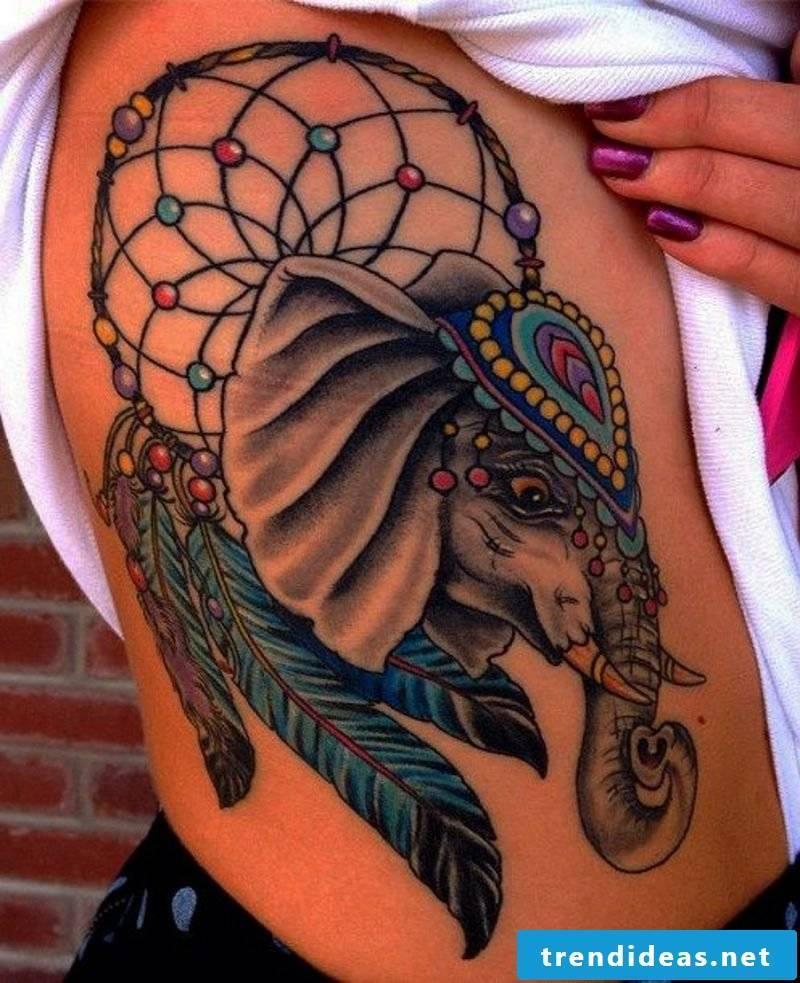 Elephant tattoo colors