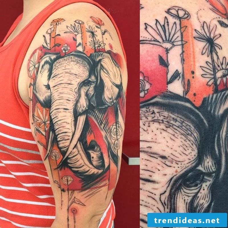 Elephant tattoo debtor