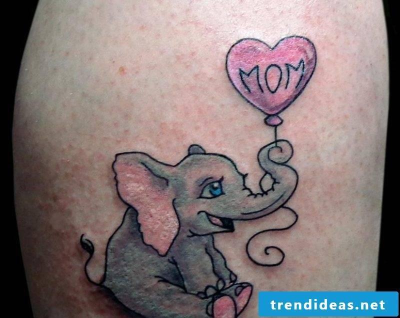 Elephant Tattoo Baby Balloon