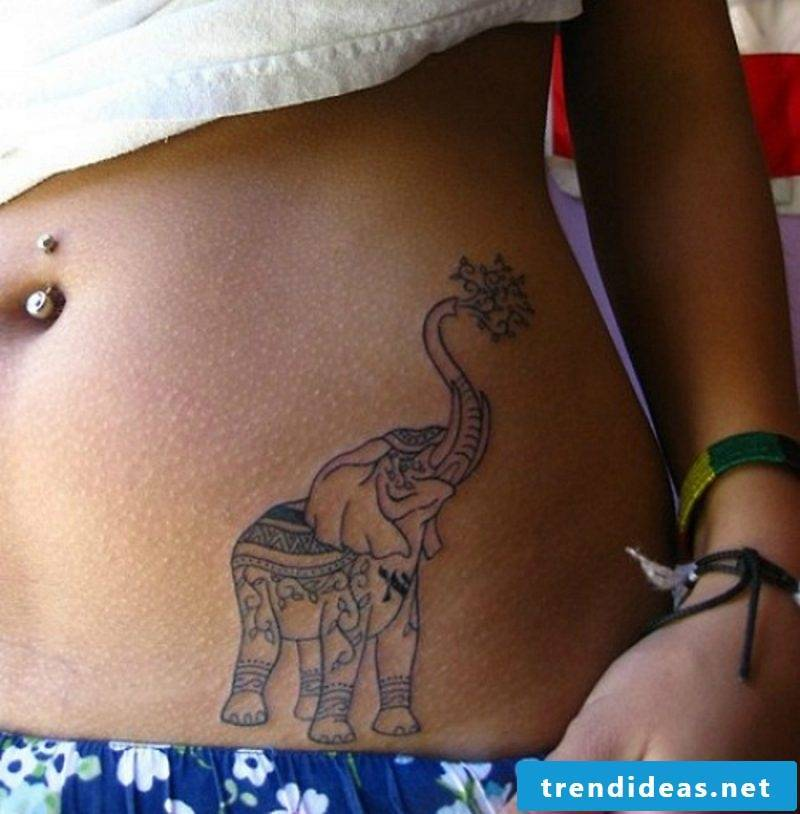 Elephant tattoo women