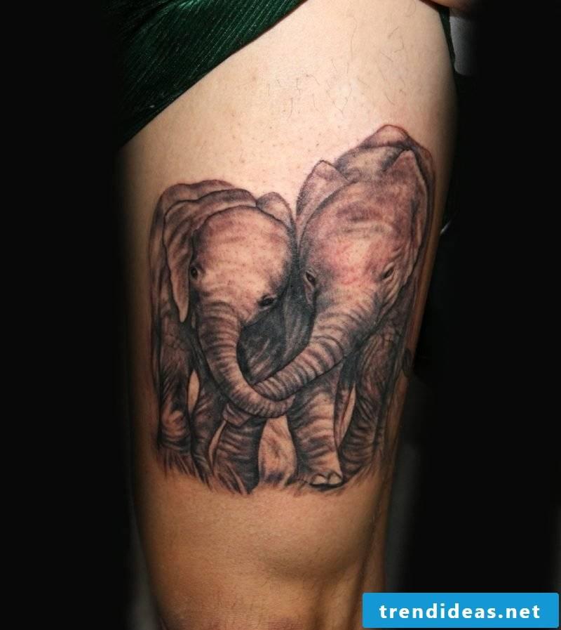 elephant tattoo elephant