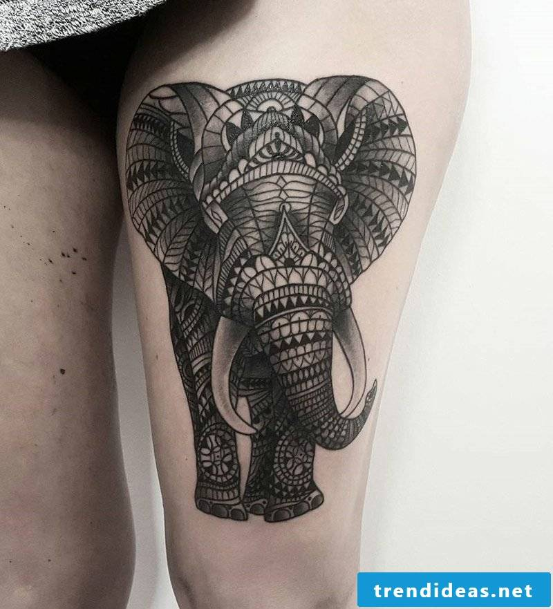 elephant tattoo ornamental elephant