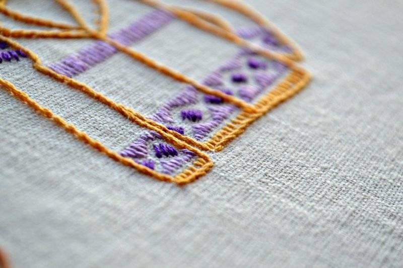 Embroidery lockstitch DIY ideas