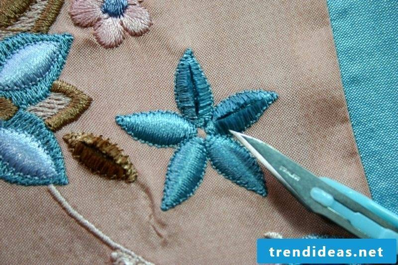 Embroidery learn satin stitch flower