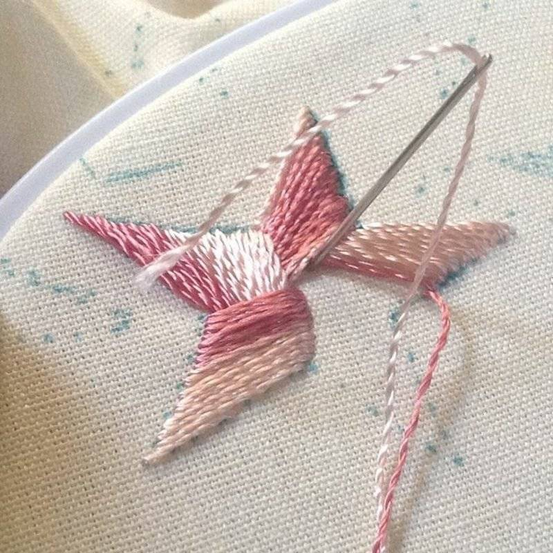 Embroidery learn satin stitch