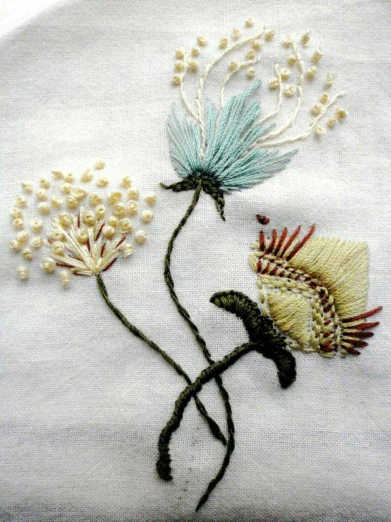 Embroidery learns ideas and inspirations