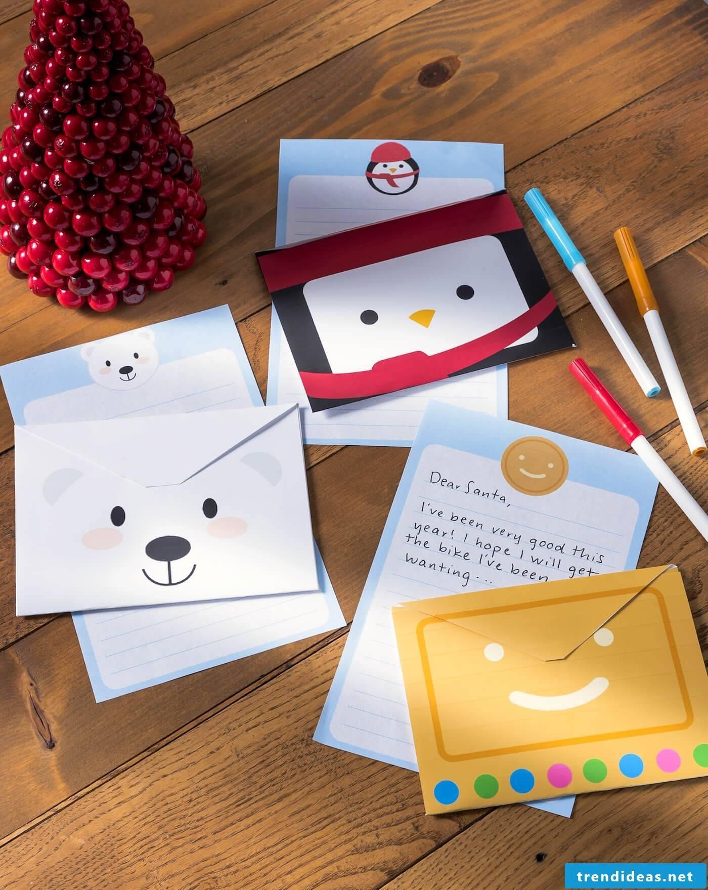 Christmas egg envelope fold