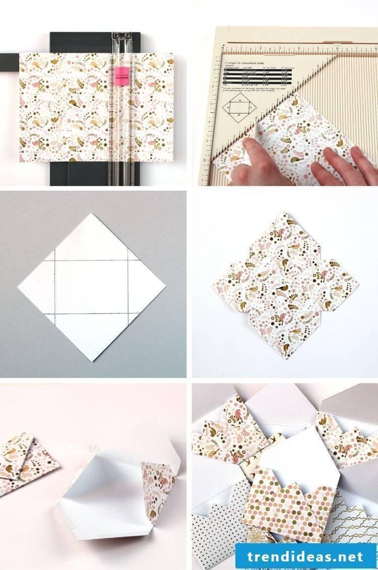 Fold letter envelope