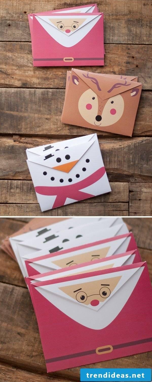 Origami Christmas - Envelope