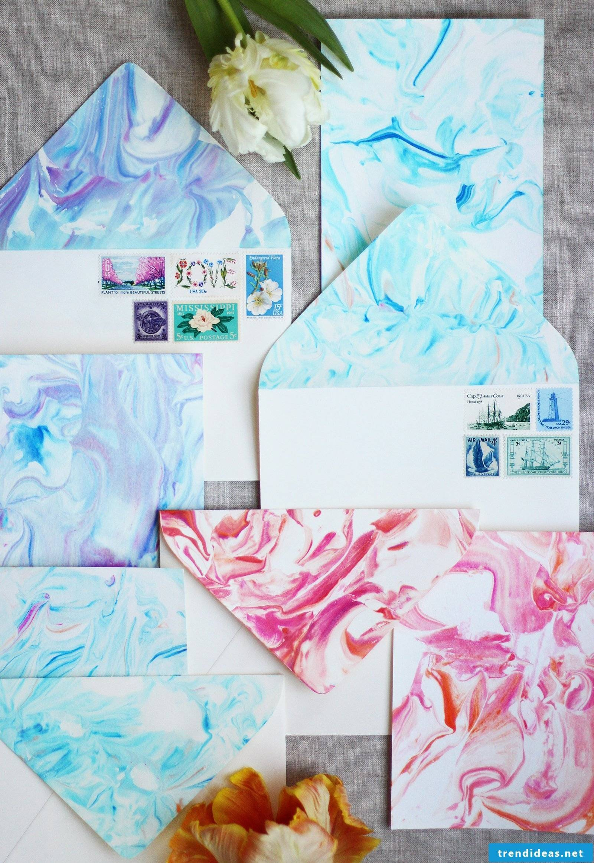 Make watercolor envelope
