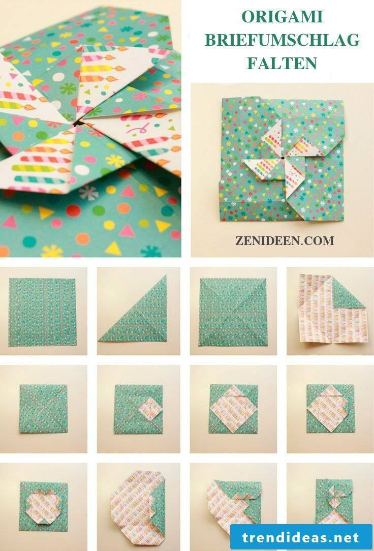 Fold origami envelope
