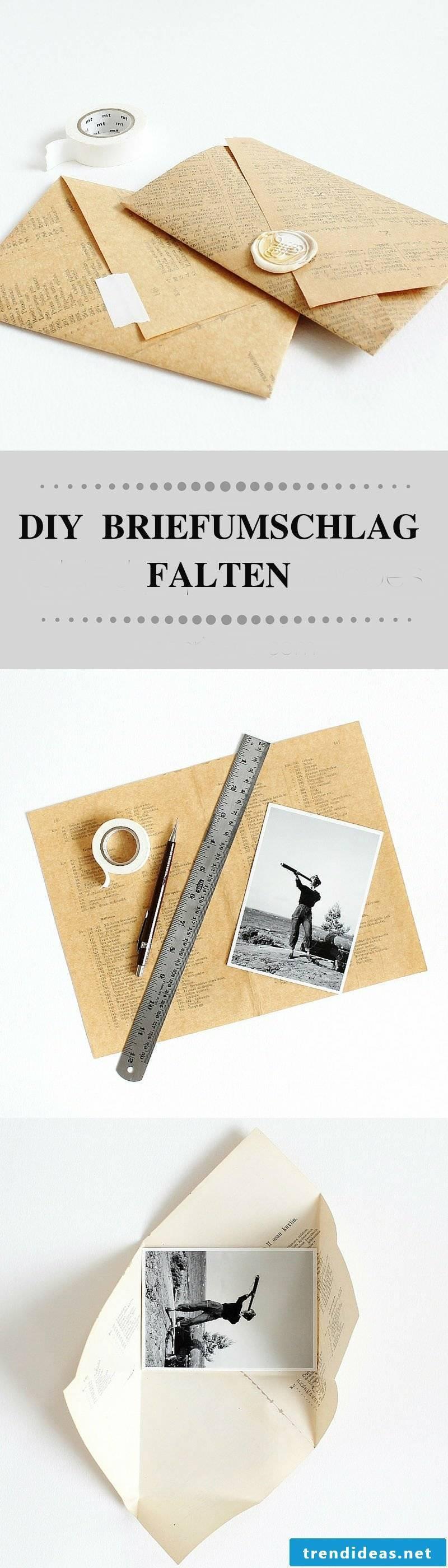 Fold Envelope Diy DIY Gifts