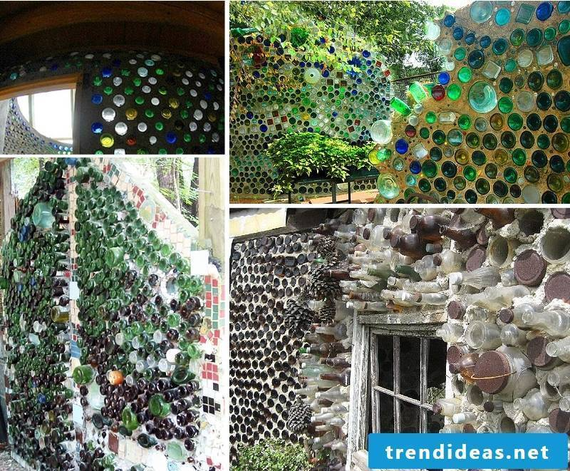 a gaudi decoration from bottles