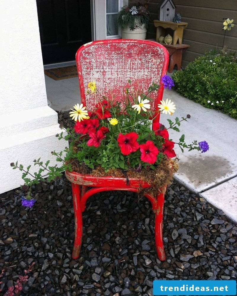 eco-friendly chair decoration in the garden