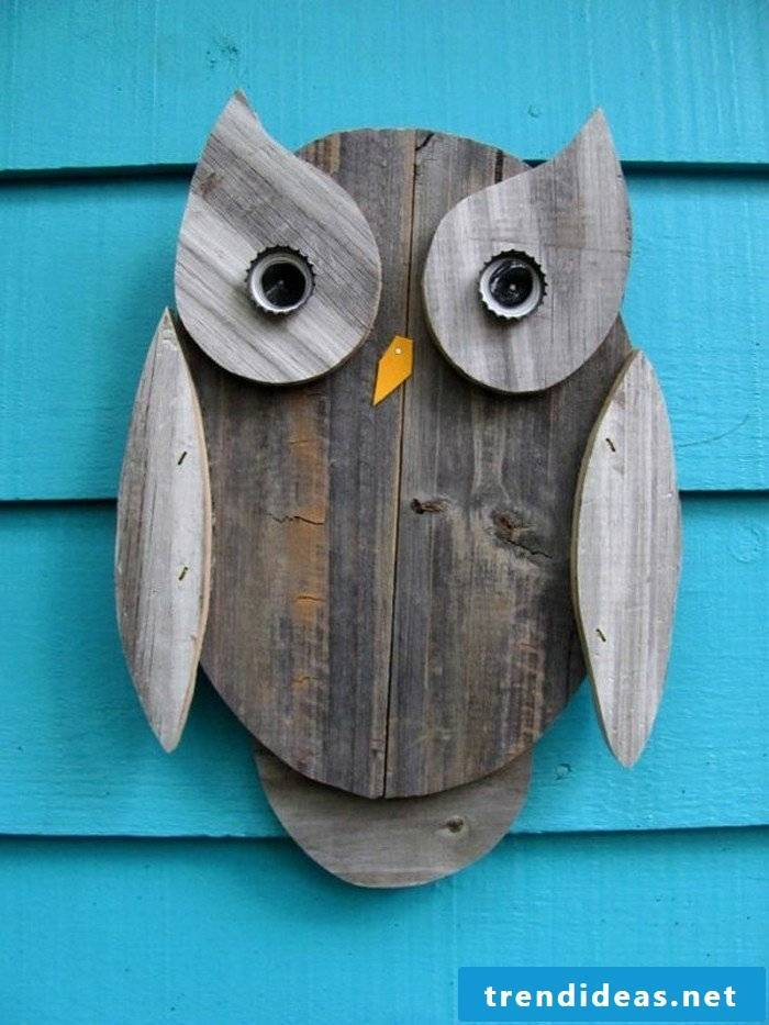 make a little owl out of wood