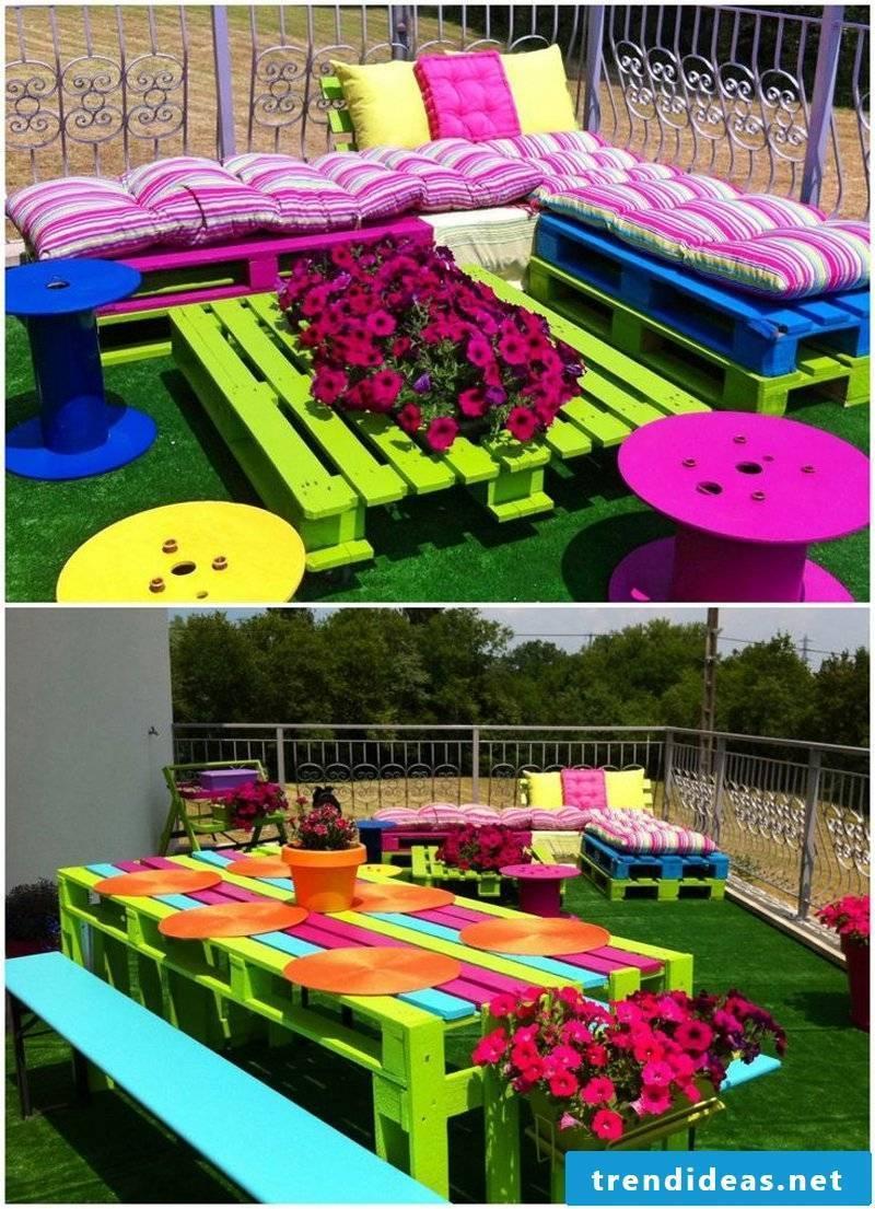 environmentally friendly garden decoration with old Gramofonpatten