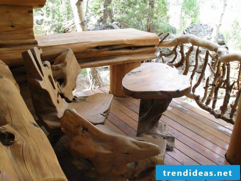 Real wood furniture Rustic