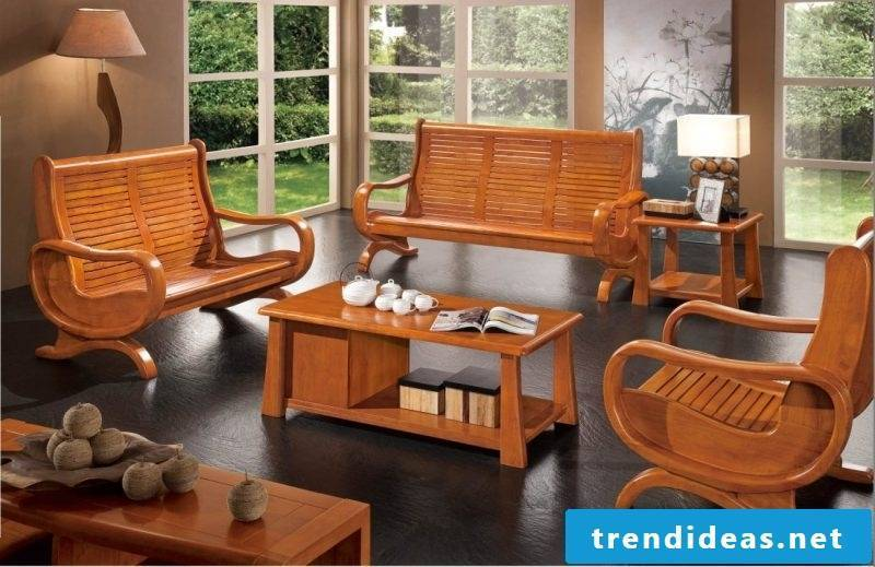 Real wood furniture furnishings