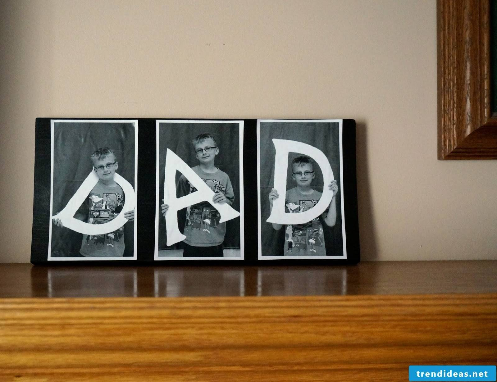 DIY photo on wood - the best gift idea for Father's Day 2018