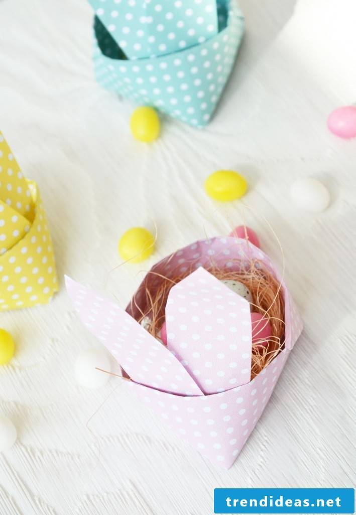 Craft Ideas Easter: DIY Instructions for Easter Bunnies - Nest