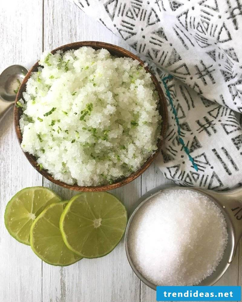 Exfoliate yourself with lime and sugar