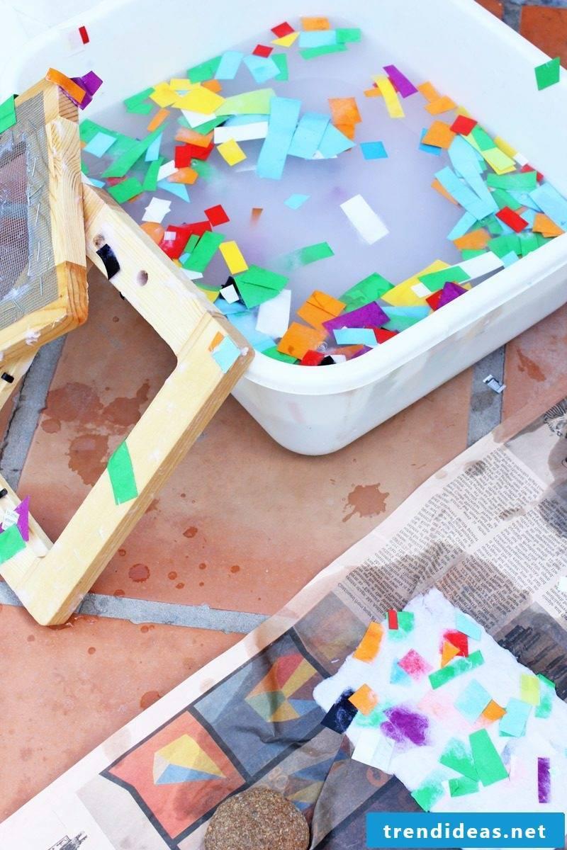 Kindergarten ideas - make paper yourself