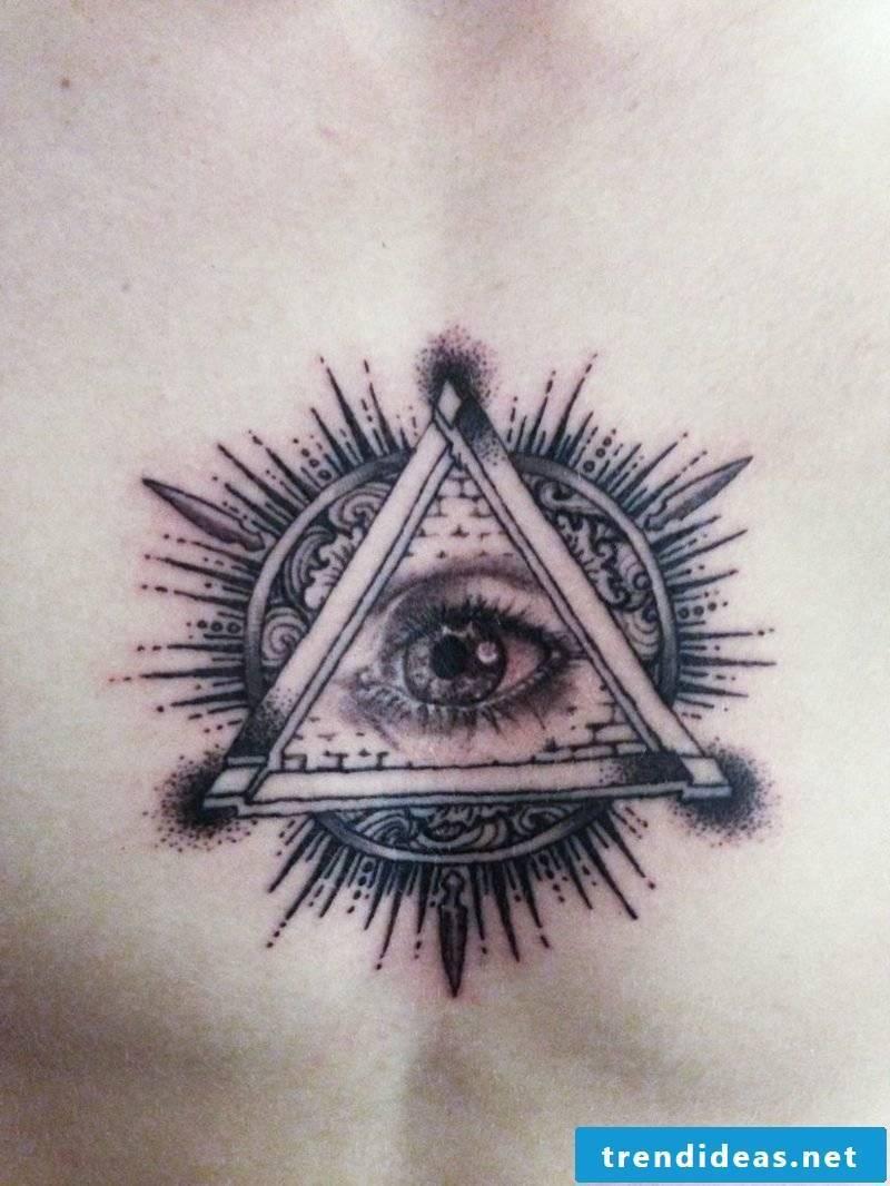 illuminati symbol eyes tattoo