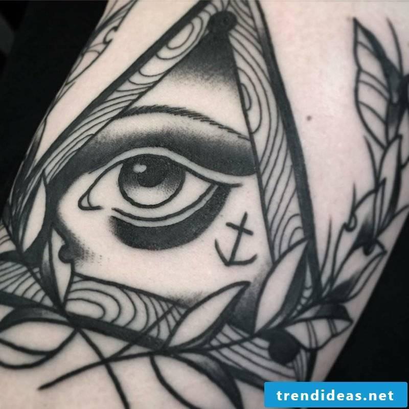 black white eyes tattoo template