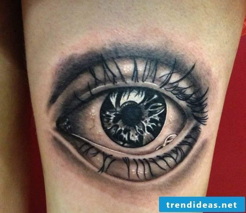 realistic eyes tattoo design