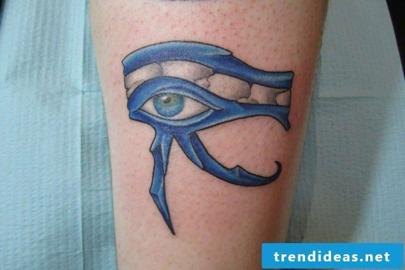 blue horusauge tattoo