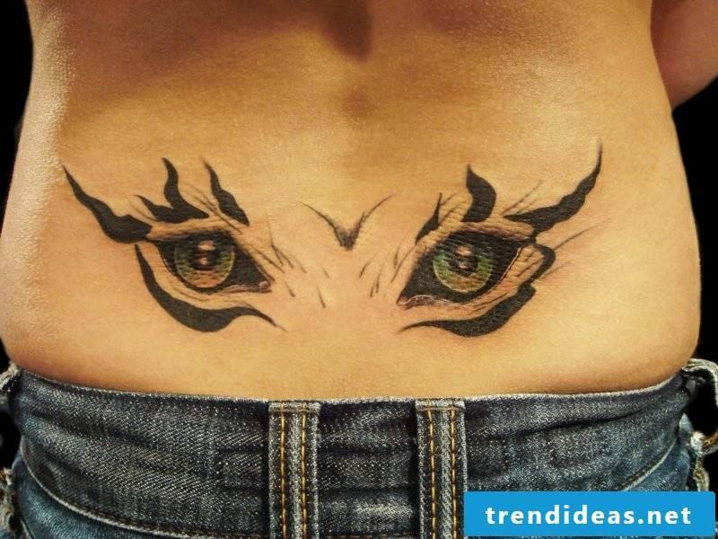 animal eyes tattoo