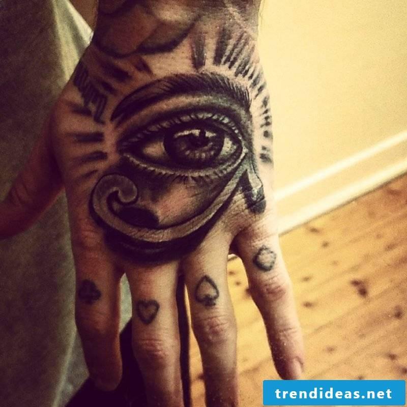 Horus eye tattoo wrist