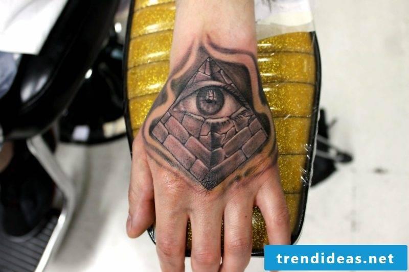pyramid eyes tattoo