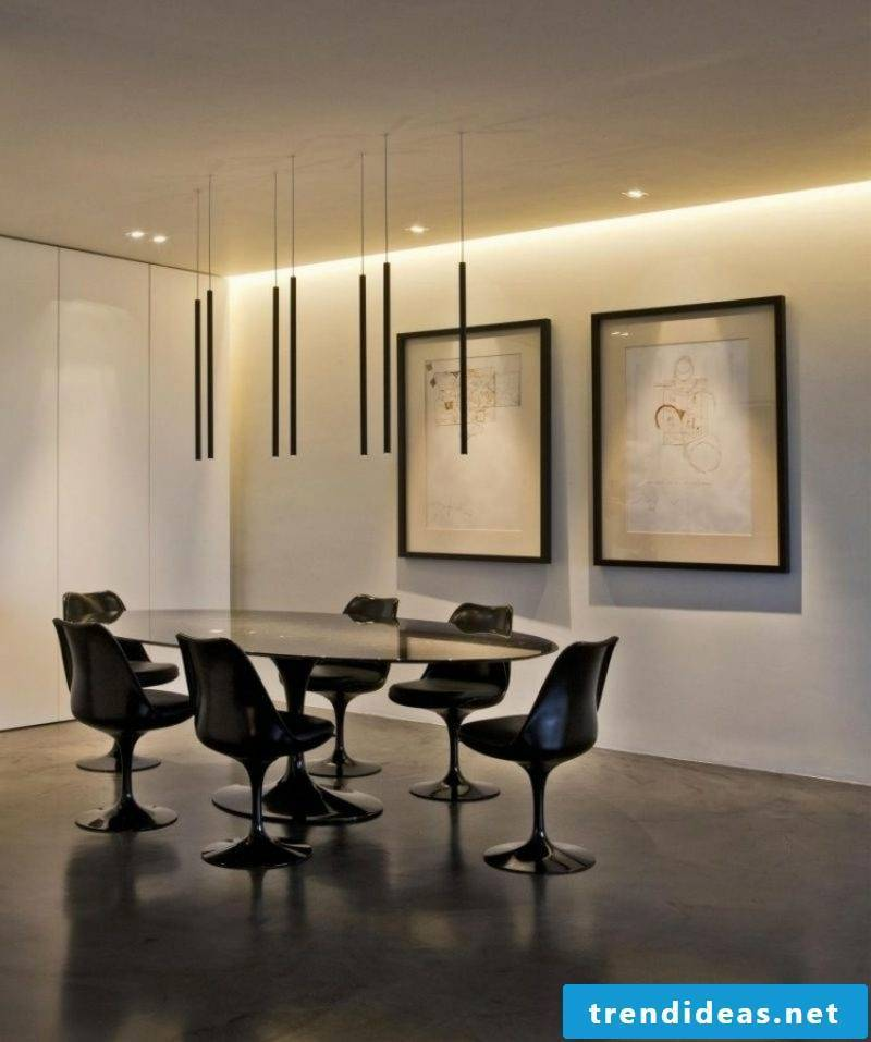 Dining area indirect lighting ceiling