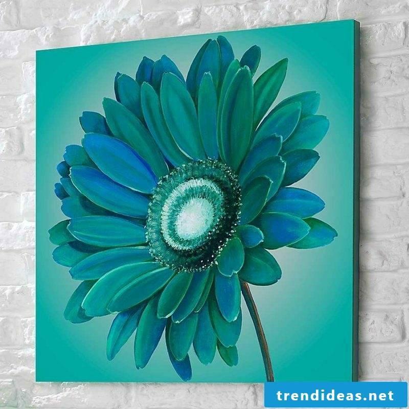 original flower in 3D-look canvas